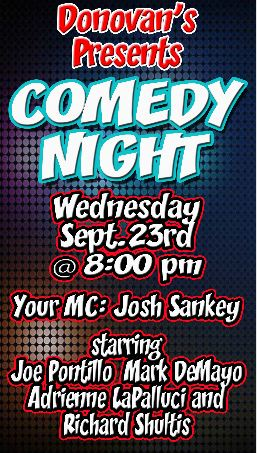 Comedy Night SEPT 23RD 2015